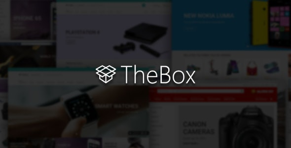 TheBox - Ultimate E-Commerce Template - Shopping Retail