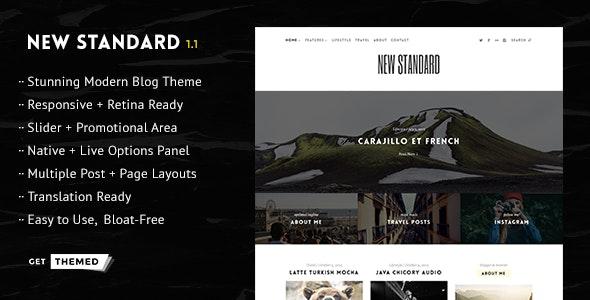New Standard - WordPress Blog Theme - Personal Blog / Magazine