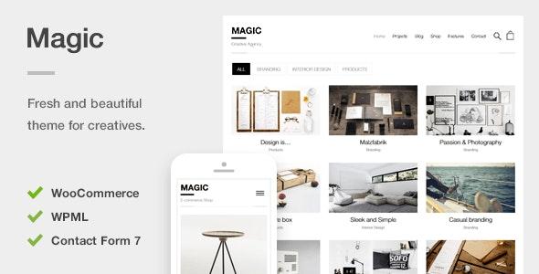 Magic A Creative Portfolio Ecommerce Wordpress Theme By Liviu Cerchez