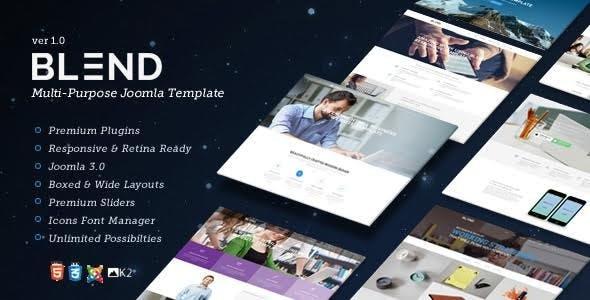 Blend - Multi-Purpose Responsive Joomla Template