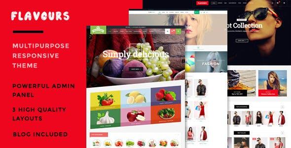 Flavours Fruit Store, Organic Shop & Fashion Store - Responsive OpenCart Theme