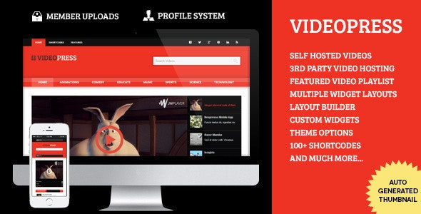 VideoPress - A Self Hosted Video Streaming Theme - Blog / Magazine WordPress