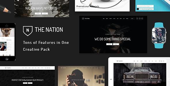 Nation - Responsive Multi-Purpose WordPress Theme - Portfolio Creative