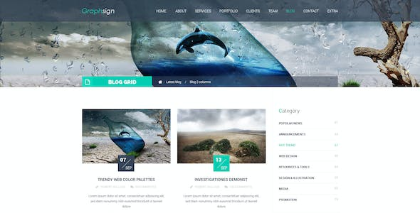 Graphsign - Onepage Corporate Business HTML