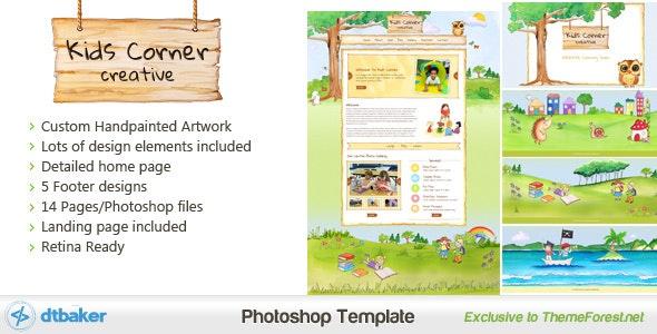 Kids Corner Creative - Hand painted PSD - Children Retail