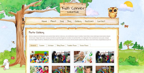 Kids Corner Creative - Hand painted PSD