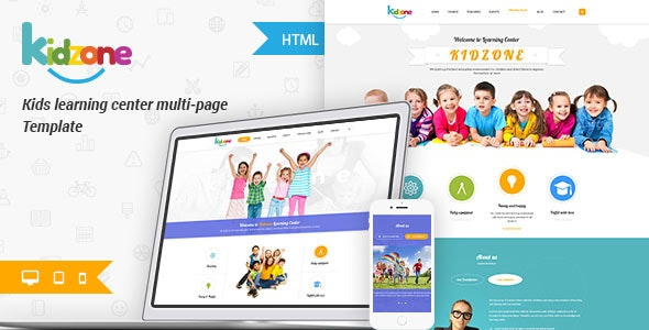 Kidzone - Children Kindergartent HTML - Children Retail