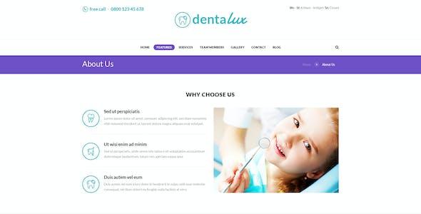 Dentalux | Dentist & Healthcare Site Template