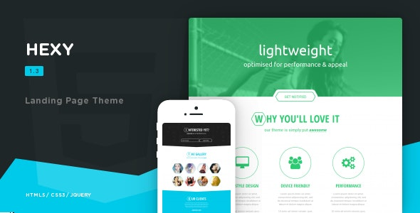 HEXY - Landing Page Theme - Landing Pages Marketing