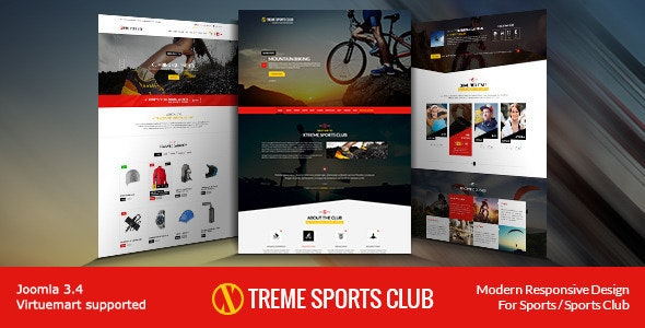 Xtreme Sports Club - Joomla Template - Shopping Retail