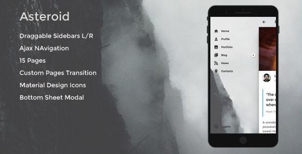 Asteroid - Mobile Template - Mobile Site Templates
