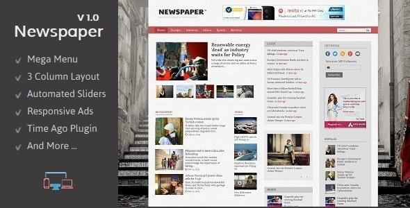 Newspaper - Responsive Blogger Template - Blogger Blogging