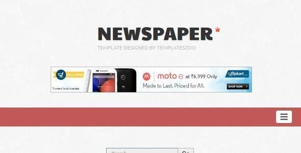 The Newspaper - Responsive Blogger Template