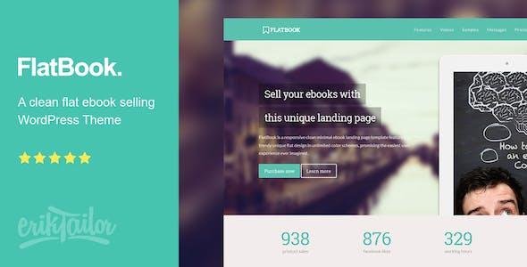 FlatBook - Flat Ebook Selling WordPress Theme