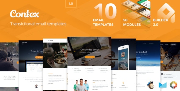 Contex - Email Templates Set + Builder 2.0 - Email Templates Marketing