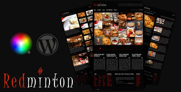 Redminton - Restaurant WordPress Theme - Restaurants & Cafes Entertainment