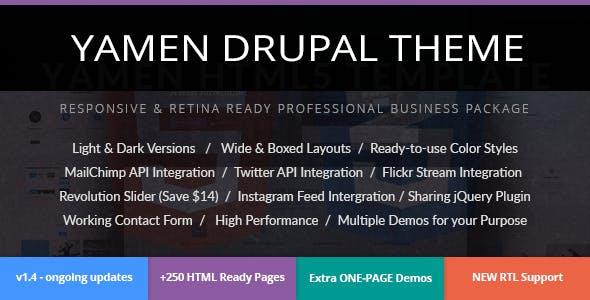 YAMEN - Responsive Business Drupal 7 Theme
