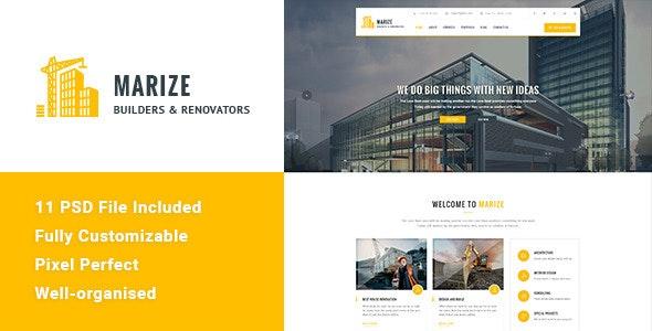Marize - Construction & Building HTML Template - Business Corporate