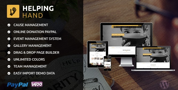 HelpingHand - Charity/Fundraising WordPress Theme - Charity Nonprofit