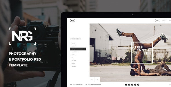 NRGphotography - Premium Photography PSD Template - Photography Creative
