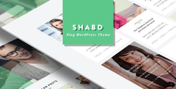 SHABD - Personal, News, Blog, WordPress Theme - Blog / Magazine WordPress