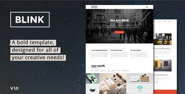 Blink - Parallax One Page HTML Template - Portfolio Creative