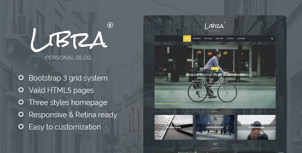 Libra - Personal Blog WordPress Theme - Personal Blog / Magazine