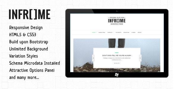 Inframe - Personal WordPress Blog Theme - Personal Blog / Magazine