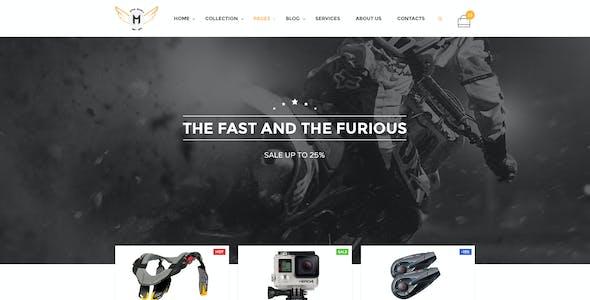 Motor Vehikal - Motorcycle Online Store PSD