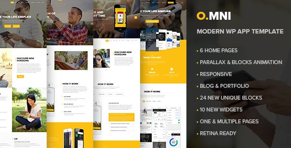 Omni | One Page App  WordPress Theme - Software Technology