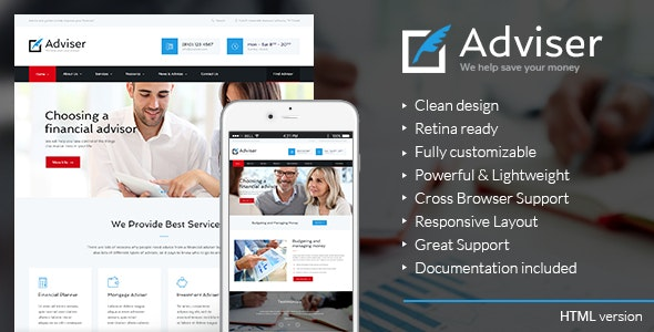 Adviser | Finance & Accounting HTML Theme - Business Corporate