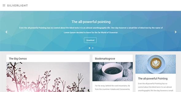 Silverlight - Responsive Masonry Theme - Blog Tumblr