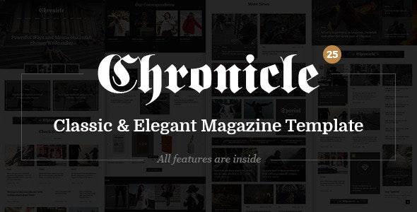 Chronicle - Premium News and Magazine PSD Template - Corporate Photoshop