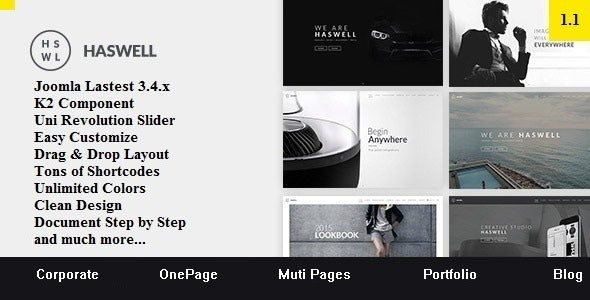 Haswell - Multipurpose One & Multi Page Joomla Template - Corporate Joomla