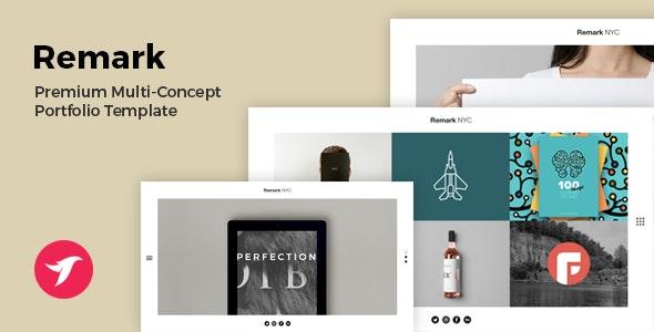 REMARK - Multi Concept Portfolio & Agency Template - Portfolio Creative