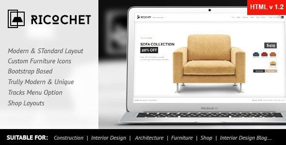 Ricochet - Interior, Architecture, Corporate HTML5