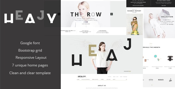 Heajy - Jewelry Store HTML Template - Fashion Retail