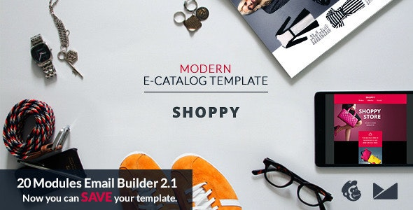 Shoppy Email Template + Online Emailbuilder 2.1 - Catalogs Email Templates