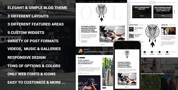 Owl - Personal Responsive WordPress Blog Theme - Personal Blog / Magazine
