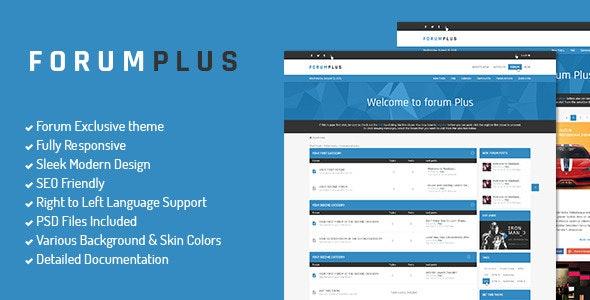 Forum Plus - Responsive Drupal Forum Theme + RTL - Blog / Magazine Drupal