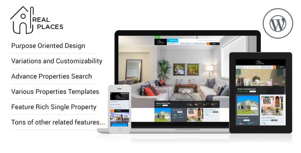 RealPlaces - Responsive WordPress Real Estate Theme - Real Estate WordPress