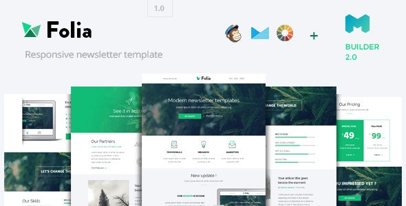 Folia - Modern Email Template + Builder 2.0  - Email Templates Marketing