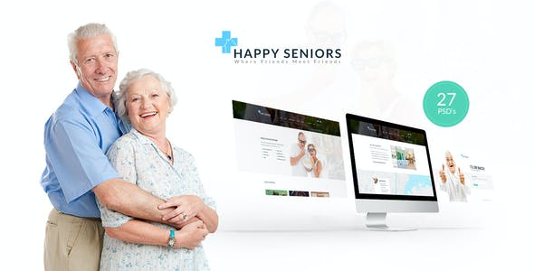 Happy Seniors - Senior Care PSD Template
