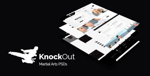 KnockOut - Martial Arts PSD Templates