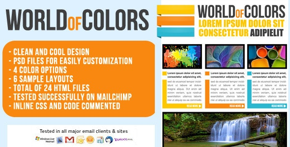 World of Colors Email Template - Newsletter  - Email Templates Marketing