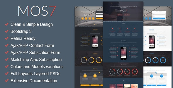 Mos7 - Responsive Bootstrap 3 App Landing Page - Apps Technology