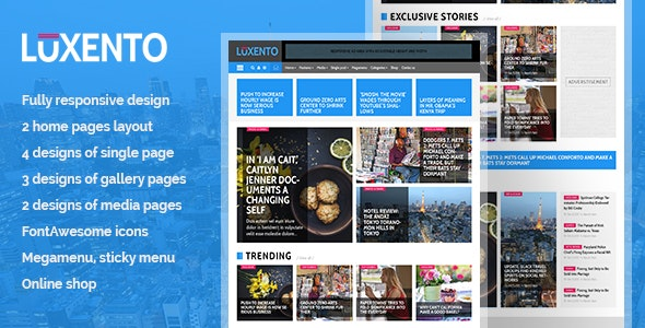 Luxento Magazine HTML5 template - Corporate Site Templates