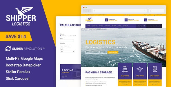 Shipper Logistic - Transportation HTML Template - Corporate Site Templates