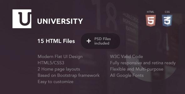 University – Education HTML Template - Nonprofit Site Templates