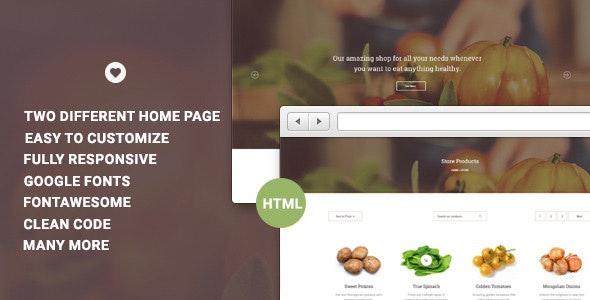 Vital Ecommerce HTML Template  - Shopping Retail
